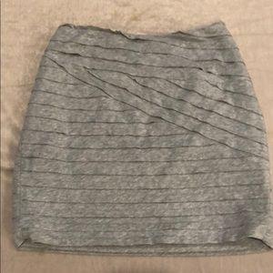 Textured Jersey Mini Skirt